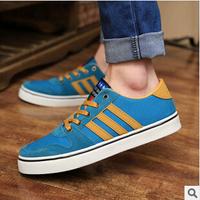 2014 autumn trend men's shoes Han edition stripe casual sneakers men low help shoes canvas shoes A813