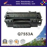 (CS-H7553A) print top premium toner cartridge for HP P2015 P2014 P 2015 2014 Q7553A Q7553 Q 7553A 7553 53A 53 BK 3K free FedEx