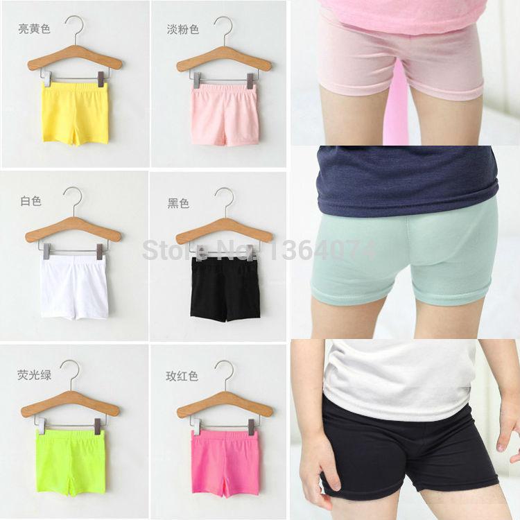 Summer Fashion Girls 100 Cotton Short Leggings Kids Girls ElasticModal Leggings Pants Girls Shorts