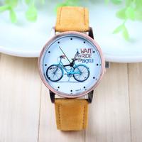 8 Colors New Arrival Fei Fan Brand Fabric Belt Wrist Watch Bike Pattern Fashion Watch 1piece/lot BW-SB-889