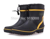 New Fashion Men Short Ankle Rubber Rain Boots Flat Heels Waterproof Rainboots Water Shoes Rain Shoes For Men #TS92