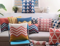 Free Shipping,100pcs /lot, 10pcs/design, CL-15, Customized Cotton Linen Cushion Cover with your design printing for sofa