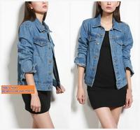 American apparel vintage AA button short denim jacket yy135