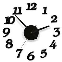 Free Shipping 3Colors - Brand New Creative DIY modern design decorative digital Wall Clock, room/Sofa Background Wall Clocks