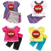 2014 new wholesale chidlren summer clothes  set brand t shirt+pants children clothing set children girls clothes 5sets/lot