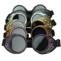 C181PC Vintage Victorian Steampunk Goggles Glasses Welding Punk Gothic Cosplay