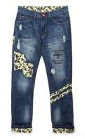 Fashion Designer Demin Pants, Man Jeans ,Brand jeans men, Men Patchwork Casual Jeans