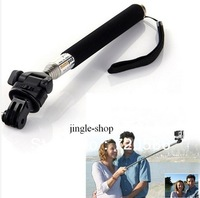 Telescoping Extendable Pole Handheld Monopod with Tripod for Gopro Hero2/3 camera accessories