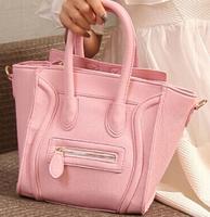S size famous brand PU Leather classic woman handbag smiley bag sac a main smiling wings women shoulder bag