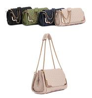 New arrival designer Fashion women PU leathe handbagr ladies plaid pattern shoulder bags messenger girl's soft totes with chain