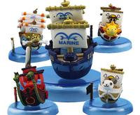 Free shipping  Japanese anime 10cm one piece  Ship Modle 5pcs/lot PVC action figure Toys