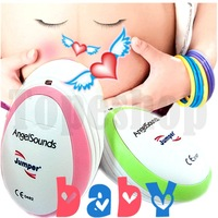 PINK or Green!!  Angelsounds Fetal Doppler Pocket ultrasound fetal heart monitor, with earphone and USB cable