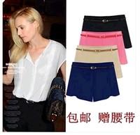 2014 summer fashion casual plus size shorts women's legging high waist trousers shorts