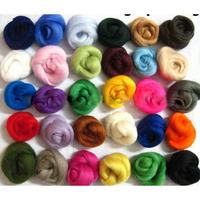 36 Colors Merino Wool Fibre Roving For Needle Felting Hand Spinning DIY Fun Doll Needlework
