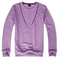 fall and winter 2014 new men long sleeve t-shirts slim box not print casual shirt O-neck top & tees L033