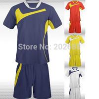 New arrived hot sale man's blank or plain short sleeve football kit,can custom team logo.