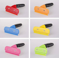Free Shipping Multi-colors Pet Grooming Hair Removal Comb, Dog Hair Cleaning Comb, DeShedding Tool For Dog, Not Hurt Skin.