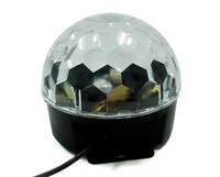 New Dream Edition Voice activate Self-propelled Colorful RGB LED Crystal Magic Ball Colored Stage disco Lamps for DJ, Party, bar