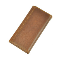 Men wallets purse long wallet, genuine leather wallet,desigual wallet,card holder,cowhide leather,large capacity,brown,5568