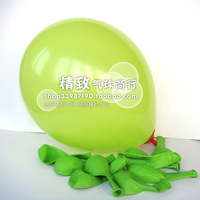 10 inch,standard balloon fruit green wedding 100