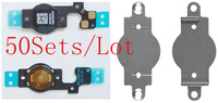 (50Sets/Lot by AM DHL EMS)100% Top Quality Guarantee for iPhone 5C Flex Cable&Metal Cushion Holder