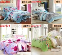 Free shipping Home textile 4pcs Bedding set Soft  Bedclothes  4PCS Bed sheet Bedcover bedspread bed set Bed linen Hot sale