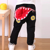 Korean Designer Boys Shark Teeth Mouth pant with large back zip pocket Sizes 2-6yr