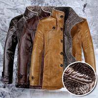 Warm men pu leather jackets for men coat casual jacket outdoors windbreaker winter clothing jaqueta motorcycle plus size M-XXL
