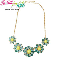 Cute Vintage Brand Double Layer Flower Chain Collar Bib Necklace Fashion Retro Statement Choker Charm Jewelry For Women Party
