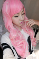 Long Cosplay Dark Pink Wigs Ladies' Curly Wigs 70cm