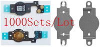 (1000Sets/Lot DHL EMS Free)100% Top Quality Guarantee for iPhone 5C Flex Cable&Metal Cushion Holder