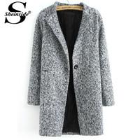 Женская одежда из шерсти Sheinside ... outer140820501
