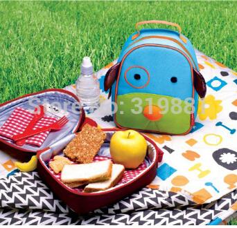2014 New Zoo Senior Turismo térmica almoço sacos para crianças dos miúdos do bebê ao ar livre bonito Travel Box Thermo Lunchbox Picnic Cooler Bag(China (Mainland))