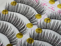 New 10 Pairs Makeup Beauty False Eyelashes Eye Lashes Extension Long Thick Cross