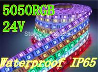 10rolls LED Strip Lighting flexible 24V RGB 5050 Light stripe 60leds per meter IP65 Waterproof String By DHL