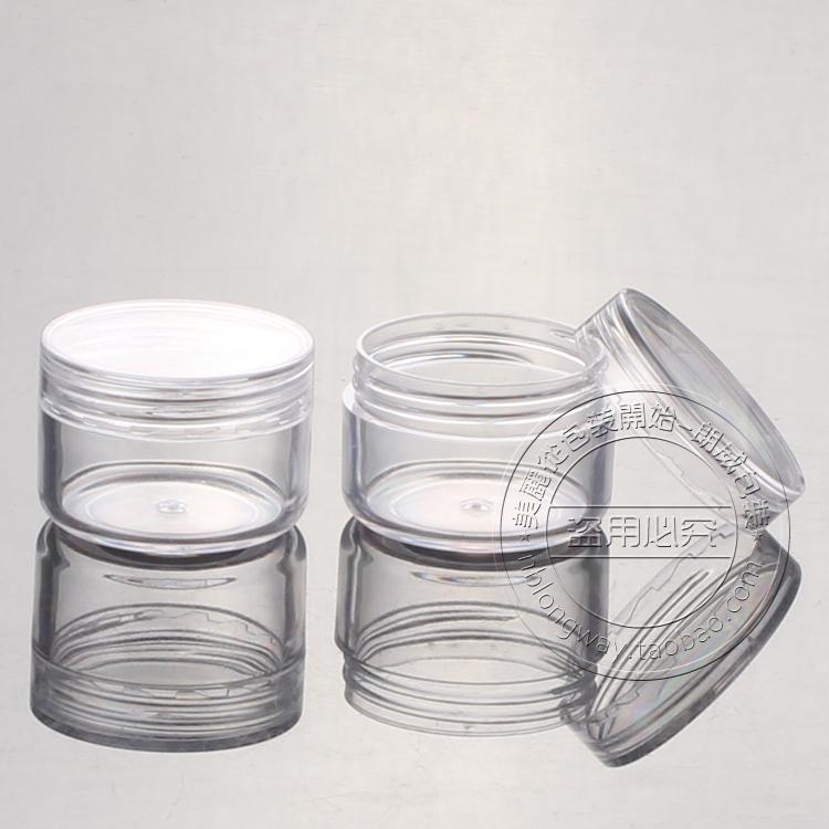 5g PS PS box at right angles, Jar sample bottles of boxing round box Trial Pack(China (Mainland))
