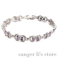 G-012 2014 Hot Selling Korea Jewelry Alloy Jewelry Azorite Bracelet Crystal Bangle Free Shipping