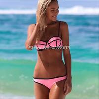Hot 2014 Neoprene Women Sexy Bikinis Set Swimwear  factory direct selling explosion models