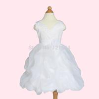 2014 New Free shipping Child Princess Tutu Dress V-neck  White  Red  Purple Inexpensive Wholesale Lifestyle