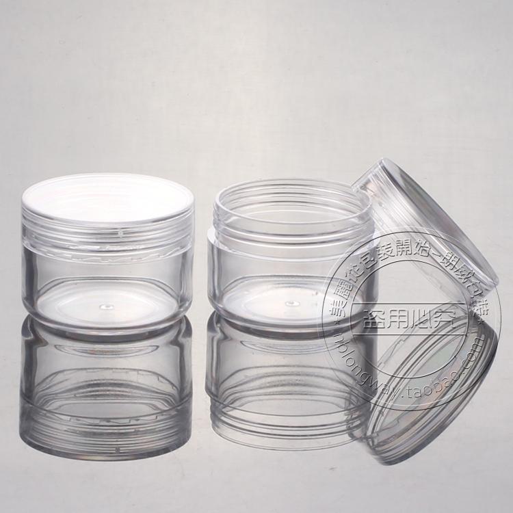 15g PS PS box at right angles, Jar sample bottles of boxing round box Trial Pack(China (Mainland))