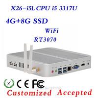 Industrial Fanless PC, Intel 3317U mini computer, XCY X26-i5L thin client