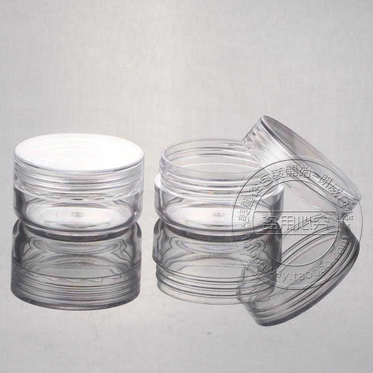 10g PS PS box at right angles, Jar sample bottles of boxing round box Trial Pack(China (Mainland))