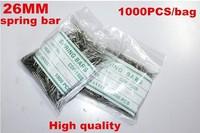 Wholesale 1000PCS / bag High quality watch repair tools & kits 26MM spring bar watch repair parts -4141s