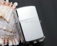 Hot Cigarette Lighter Metal Refillable Oil Windproof Lighter Kerosene Lighter Gift Grinding Wheel Lighter Black & Silver+flint