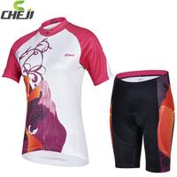 Cool ! 2015 Women Cycling Jersey+ bike Cycling Short Women Cycling Clothing\ High quality GEL Pad ladies' clothes Free Shipping