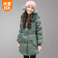 2014 new arrival fashion down jacket for girl medium-long thickening girl winter coat winter jacket children girls
