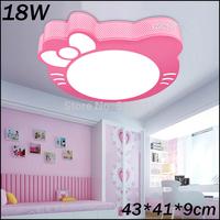 Popular cute kitty ceiling light for baby child room 430*410mm 85-265V 18W led ceiling light bedroom
