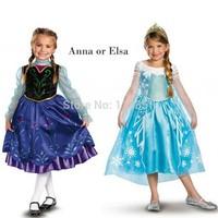 Frozen elsa Girl dress Baby girls Dress kids Princess  clothes Lace Flower Arrival Tutu dresses Girl Party Cartoon Printing