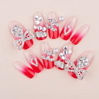 New Crystal X C Full Cover Wedding Fasles Bridal Nail DIY Derorations Acrylic Nail Art Tips Drop Ship HC09-WD-035