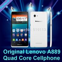 Free shipping Original 6'' Lenovo A889 MTK6582 Quad Core Cellphone 1GB RAM 8GB ROM Android 4.2 Phone 8.0MP Camera  Dual Sim